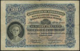 Schweiz / Switzerland P.35b 100 Franken 1926 (4)