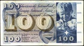 Schweiz / Switzerland P.49a 100 Franken 1956 (3)
