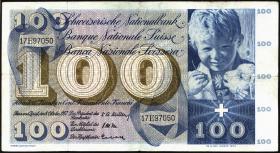 Schweiz / Switzerland P.49b 100 Franken 1957 (3)