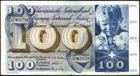 Schweiz / Switzerland P.49c 100 Franken 1958 (3)
