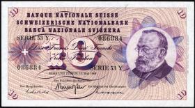 Schweiz / Switzerland P.45 10 Franken 1967-77 (1)