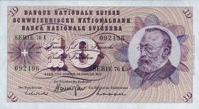Schweiz / Switzerland P.45r 10 Franken 1972 (1-)