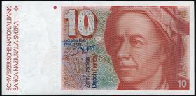 Schweiz / Switzerland P.53f 10 Franken 1986 (1)