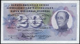 Schweiz / Switzerland P.46g 20 Franken 1959 (1)