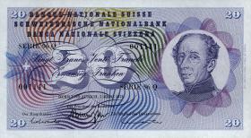 Schweiz / Switzerland P.46u 20 Franken 1973 (1)