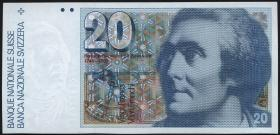 Schweiz / Switzerland P.55a 20 Franken 1978 (1)
