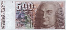 Schweiz / Switzerland P.58c 500 Franken 1992 (1)