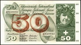 Schweiz / Switzerland P.48n 50 Franken 1974 (1)