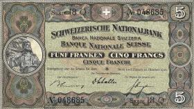 Schweiz / Switzerland P.11h 5 Franken 1936 (2/1)