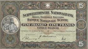 Schweiz / Switzerland P.11j 5 Franken 1942 (2)