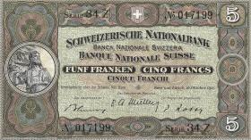 Schweiz / Switzerland P.11m 5 Franken 1947 (1)