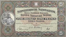 Schweiz / Switzerland P.11n 5 Franken 1949 (1)