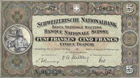 Schweiz / Switzerland P.11o 5 Franken 1951 (1)