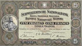 Schweiz / Switzerland P.11p 5 Franken 1952 (1)