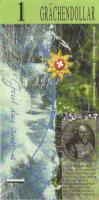 """Schweiz / Switzerland 1 Dollar 1996 """"Grächendollar"""" (2)"""