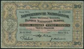 Schweiz / Switzerland P.33f 20 Franken 1928 (4)