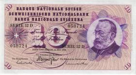 Schweiz / Switzerland P.45n 10 Franken 1968 (1)