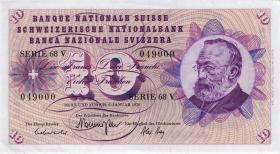 Schweiz / Switzerland P.45p 10 Franken 1970 (1)