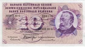 Schweiz / Switzerland P.45s 10 Franken 1973 (1)