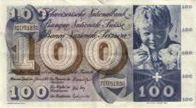 Schweiz / Switzerland P.49l 100 Franken 1970 (3/2)