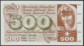 Schweiz / Switzerland P.51j 500 Franken 1972 (1)