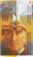 Schweiz / Switzerland P.66b 10 Franken 1996 (1)