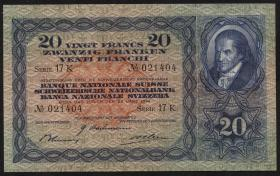 Schweiz / Switzerland P.39m 20 Franken 1944 (1)