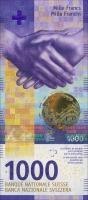 Schweiz / Switzerland P.80 1000 Franken (20)17 (1)