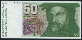 Schweiz / Switzerland P.56g 50 Franken 1987 (1)