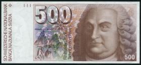 Schweiz / Switzerland P.58c 500 Franken 1992 (1/1-)