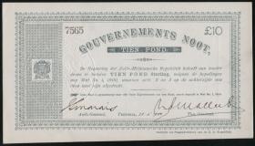 Südafrika / South Africa P.056 10 Pounds 1900 (1)