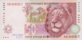 Südafrika / South Africa P.125b 50 Rand (1992) (1)
