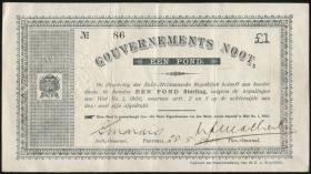 Südafrika / South Africa P.054 1 Pound 1900 (3)