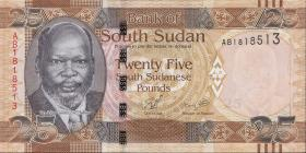 Süd Sudan / South Sudan P.08 25 Pounds 2011 (1)