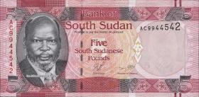 Süd Sudan / South Sudan P.06a 5 Pounds 2011 (1)