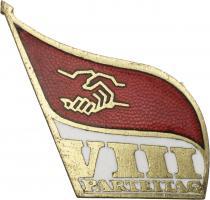 SED Parteitagsabzeichen 8. Parteitag