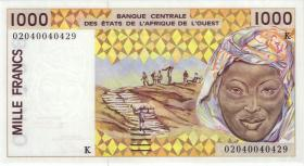 West-Afr.Staaten/West African States P.711KI 1000 Francs 2002 (1)