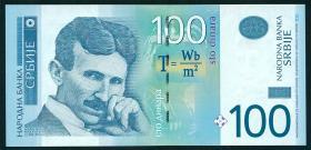 Serbien / Serbia P.57b 100 Dinara 2013 (1)