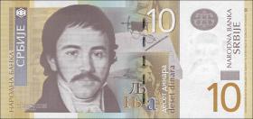 Serbien / Serbia P.54b 10 Dinara 2013 (1)