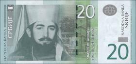Serbien / Serbia P.55b 20 Dinara 2013 (1)