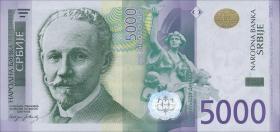 Serbien / Serbia P.53b 5000 Dinara 2016 (1)