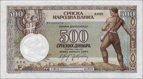 Serbien / Serbia P.31 500 Dinara 1942 (1)
