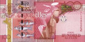 Seychellen / Seychelles P.44b 100 Rupien 2013 (1)