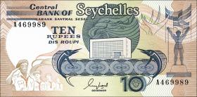 Seychellen / Seychelles P.32 10 Rupien (1989) (1)