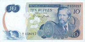 Seychellen / Seychelles P.19 10 Rupien (1976) (1)