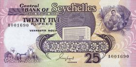 Seychellen / Seychelles P.33 25 Rupien (1989) (1)