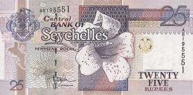 Seychellen / Seychelles P.37a 25 Rupien (1998) (1)