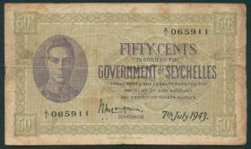 Seychellen / Seychelles 50 Cents 1942 (4)