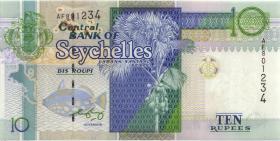 Seychellen / Seychelles P.36b 10 Rupien (2010) (1)
