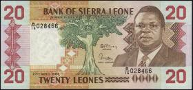 Sierra Leone P.16 20 Leones 1988 (1)